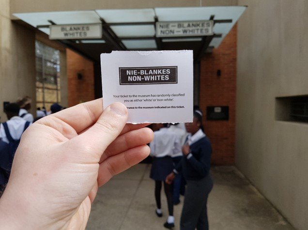 Apartheid Museum Ticket